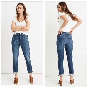 NWT Madewell High Rise Slim Boyjean Eco Edition 24